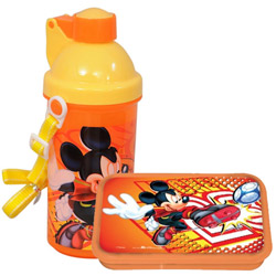 Splendid Off to School Mickey Design Tiffin Set