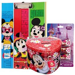 Outstanding Stationery Set with Disney Minnie Design