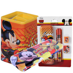 Classy Disney Mickey Pattern Stationary Set for Lovely Kids