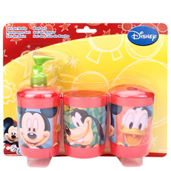 Eye-catching Bathroom Set with Mickey Mouse Design