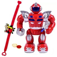 Battery Operated Walking  Robot with Rakhi and Roli Tilak Chawal