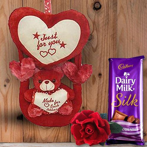 Romantic Rose Teddy Combo