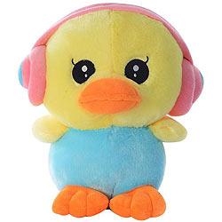 Cute Duck with an Earphone