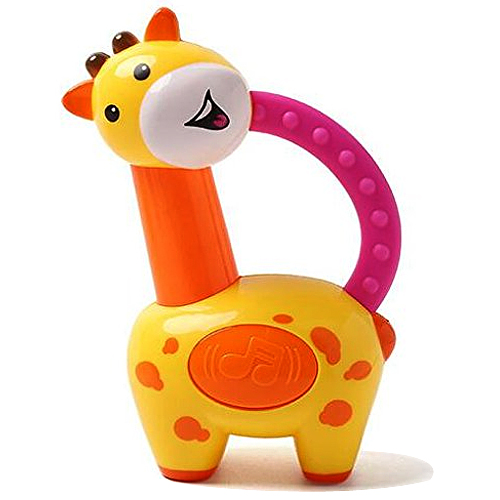 Eye-Catching Kids Fancy Colorful Giraffe Clacker Rattle from Fisher-Price