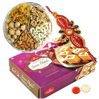 Rakhi with Mix Dry Fruit and Soan Papdi