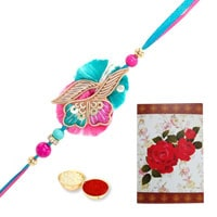 Graceful Rakhi Band with Rakhi Card for your Younger Brother