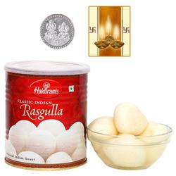 Haldiram Rasgulla with Silver Plated Coin