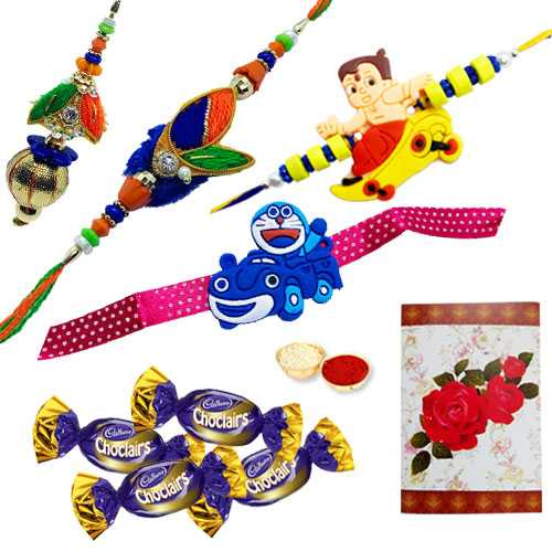 Rakhi with Chocolates<br /><font color=#0000FF>Free Delivery in USA</font>