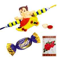 Kids Rakhi with Chocolates<br /><font color=#0000FF>Free Delivery in USA</font>