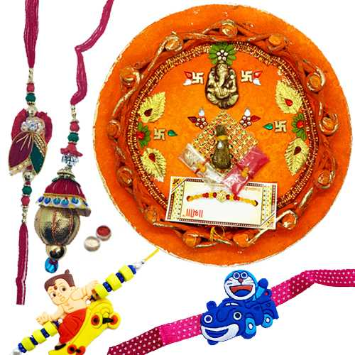 Thali with family set<br><font color=#0000FF>Free Delivery in USA</font>