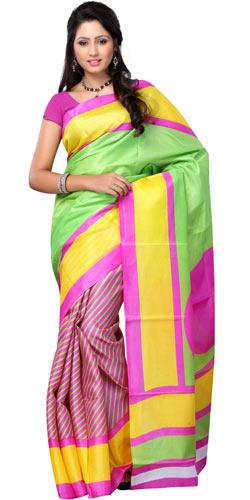 Wonderful Bhagalpuri Khadi Printed Silk Saree with Dynamic Allure
