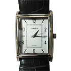 Gorgeous Silver Coloured Rectangular Dialed Timex Gents Watch