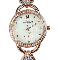 A Ravishing Womens Watch Plated with Rose Gold & Studded with Stones