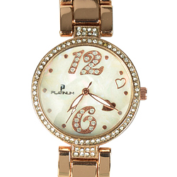 A Striking Gold Collection Ladies Watch Studded with American Diamonds