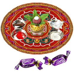 Diwali Thali with  Chocolates