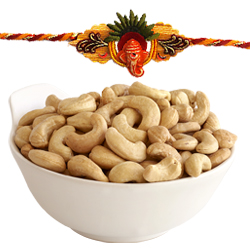Exciting Bond of Rakhis Band with Cashew Nuts Enjoyment