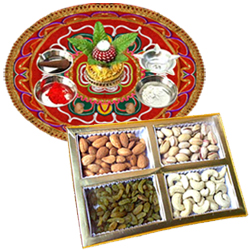 Diwali Thali with  Dry Fruits