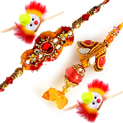 Elegant Rakhi Love Set for Whole Family