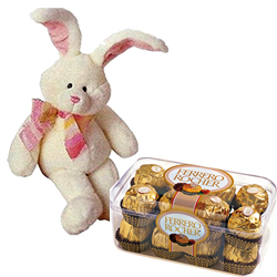 8� Bunny with 100 Gms. Handmade Chocolates